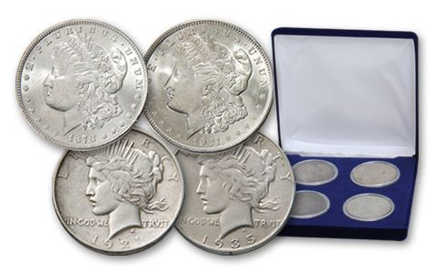 First And Last Morgan And Peace Silver Doll Sets