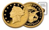 1849 1-oz Gold Double Eagle NGC Ultra Cameo Gem Commemorative Proof