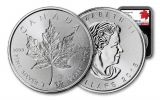 2018 Canada 1-oz Silver Incuse Maple Leaf NGC MS69 FDI 30th Anniversary Label - Black
