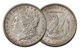 1890-S Morgan Silver Dollar AU