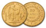 1878-1898 20 Francs Gold Angel BU