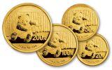 2014 China Gold Panda Prestige Set PCGS MS69 First Strike