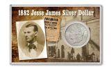 1882-S 1 Dollar Morgan Jesse James BU 4x6