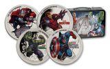 Niue 1-oz Silver Marvel Avengers Proof Set 4pc