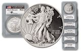 1986 2006 2013 1 Dollar Silver Eagle PCGS 69 Mercanti Set