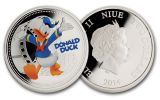 2014 Niue 1-oz Gold/Silver Disney Donald Duck 2pc Set NGC PF70