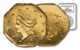 1860 1 Dollar BG-1102 California Fractional Octagonal Liberty NGC MS64PL
