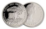 1985 Canada 1 Dollar Silver National Park Moose Proof