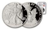 2015-W 1 Dollar 1-oz Silver Eagle NGC/PCGS PF69UCAM Mercanti Signed