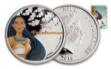 2016 Niue 2 Dollar 1-oz Silver Disney Princess Pocahontas Proof
