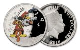 2016 Niue 2 Dollar 1-oz Silver Disney Mickey the Band Concert Proof