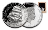 2016 Cook Islands 5 Dollar 1-oz Silver The Great Tea Race Proof