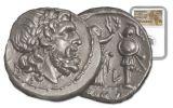 211-208 BC Roman Silver Victoriatus NGC CH MS