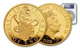 2017 Great Britain 500 Pound 5-oz Gold Queen's Beasts The Lion NGC PF70UCAM First Releases