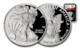 2017 1 Dollar 1-oz Silver Eagle Proof NGC PF69UCAM First Releases - Black