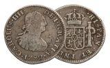 SPAIN 1789-1797 SILVER 1/2 REALE FINE WASHINGTON