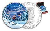 2017 Canada 15 Dollar Silver Great Outdoors Night Skiing Proof