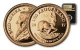 2017 South Africa 1/50-oz Gold Krugerrand NGC PF70UCAM - Black