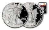 2017-W 1 Dollar 1-oz Silver Eagle Proof NGC PF69UCAM Eagle Label - Black