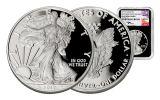 2017-W 1 Dollar 1-oz Silver Eagle NGC PF69UCAM Baltimore Show Releases Mercanti - Black