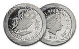 2017 Niue 2 Dollar 1-oz Silver Athenian Owl NGC MS69