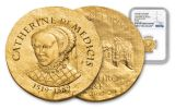 2017 50 Pound 1/4-oz Gold Women of France- Catherine Medicis NGC PF70- First Release