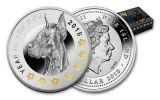 2018 Niue 1 Dollar Silver Year of The Dog Proof