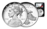 2017-P 1-oz Silver American Liberty Medal NGC PF69UCAM - First Releases - Flag - Black
