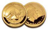 2017 Australia 1 Dollar 1-oz Gold Kangaroo High Relief Proof OGP