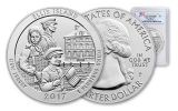 2017 25 Cent 5-oz Silver America The Beautiful Ellis Island PCGS MS69 DMPL- First Strike