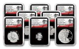 2017-S U.S. Limited Edition Silver Proof Set NGC PF70UCAM Early Releases 225th Anniversary - Black