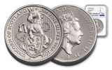 2018 Great Britain 2-oz 5 Pound Silver Queen's Beasts Unicorn MS70- First Releases