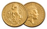 2018 Great Britain 1/4-oz 25 Pound Gold Queen's Beasts Unicorn Uncirculated