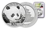 2018 China 30 Gram Silver Panda NGC Gem First Release - White