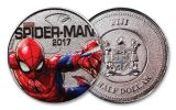 2017 Fiji 50 Cent Marvel Light Up Specimen- 3pc Set