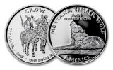 2015 Montana 1 Dollar 1-oz Silver Timber Wolf Crow Proof