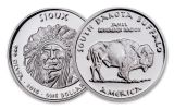 2016 South Dakota 1 Dollar 1-oz Silver Buffalo Sioux Proof