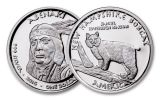 2016 New Hampshire 1 Dollar 1-oz Silver Bobcat Abenaki Proof
