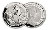 2018 British Virgin Islands 1 Dollar 1-oz Silver Pegasus Frosted Reverse Uncirculated