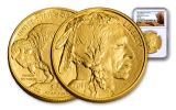 2018 50 Dollar 1-oz Gold Buffalo NGC MS70 First Day Of Issue Buffalo Label