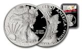 2018-W 1 Dollar 1-oz Silver Eagle NGC PF69UCAM First Releases Eagle Label - Black