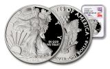 2018-W 1 Dollar 1-oz Silver Eagle NGC PF70 First Releases Mercanti Signed