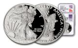 2018-W 1 Dollar 1-oz Silver Eagle NGC PF70UCAM First Releases Mercanti Jones Signed 2pc Set