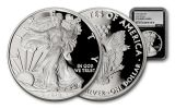 2018-W 1 Dollar 1-oz Silver Eagle NGC PF70UCAM Early Releases Silver Foil - Black
