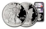 2018-W 1 Dollar 1-oz Silver Eagle NGC PF70UCAM ER Mercanti Jones Signed 2pc Set - Black