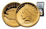 2017 1/2-oz Gold Double Eagle Indian High Relief PF69UCAM Mercanti Signed