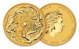 2018 Australia 100 Dollar 1-oz Gold Dragon & Phoenix BU