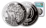 2018 Rwanda 1-oz Silver African Giraffes NGC PF70UCAM Early Releases