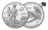 2018-W 100 Dollar 1-oz Platinum Eagle Proof