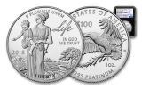 2018-W 100 Dollar 1-oz Platinum Eagle NGC PF70UCAM Early Releases - Black